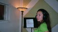 kaila yu at recording studio